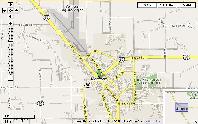 Map Of Montrose Colorado Marsha Bryan With In Cedaredge Colorado